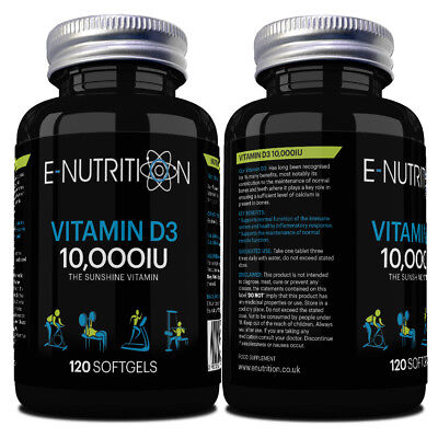 VITAMIN D3 10000iu HIGH STRENGTH TABLETS SOFTGEL | JOINT SUPPORT | IMMUNE SYSTEM