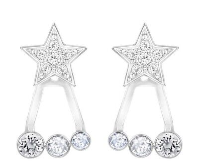 Swarovski Duo Star Jacket Earrings, Retired