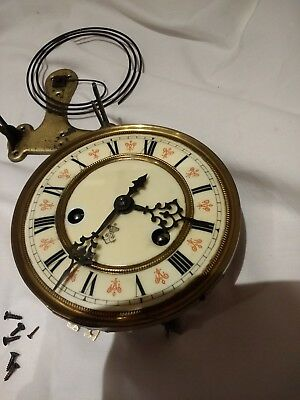 ANTIQUE German Wall Clock Movement Gustav Becker Silesia P42S