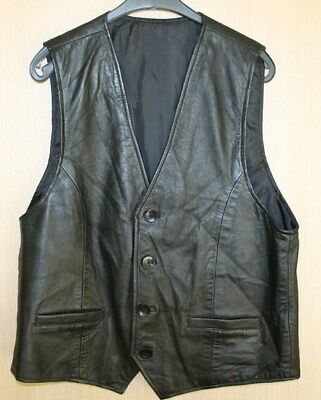 Men Leather Jacket Size XL