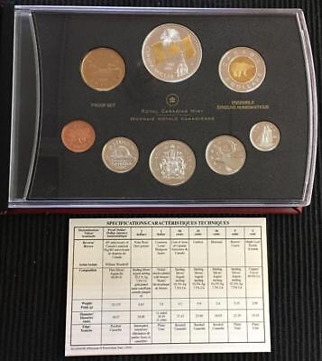 2005 Royal Canadian Mint Double Dollar Proof Set in Original Box with COA
