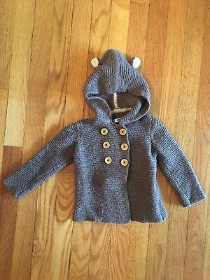 Baby Boden Brown Bear Jacket Size 12-18 Months