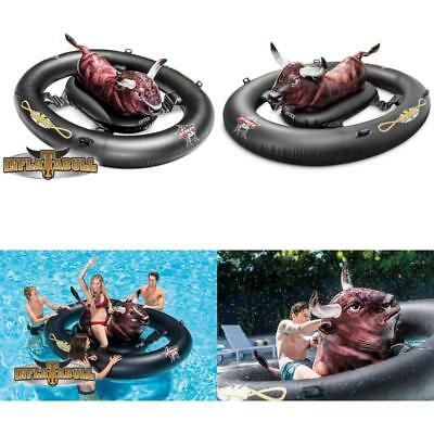 Inflatable Bull Riding Swimming Pool Float Ride On Intex Inflatabull Water Toy