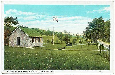 AK US USA Post Card Old Camp School House VALLEY FORGE ungelaufen v. 1945