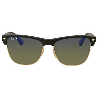 1a0f73343a RAY BAN 4175 Oversize Clubmaster Matte Black w Grey Gradient Polar ...