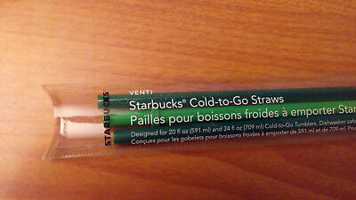 NEW! STARBUCKS COLD-TO-GO REPLACEMENT STRAWS VENTI 3 PACK FOR 20 oz & 24 oz