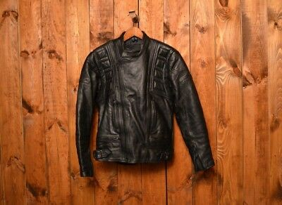 b342df64 Belstaff Outlaws Vintage Leather Cafe Racer Motorcycle Biker Leather Jacket  42-L