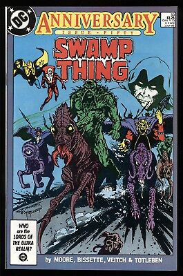 Swamp Thing #50 9.4 Nm ~ 1St Full Appearance Of Justice League Dark ~ Alan Moore