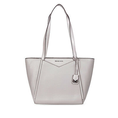 8cb7464bc618 MICHAEL KORS WHITNEY Small Leather Tote- Pearl Grey 30S8SN1T1L-081 ...