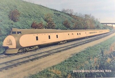 Vintage Union Pacific M10001 Framed Color Photo Print Poster Original 1930's