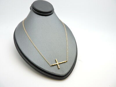 a973ad166 TIFFANY & CO. Paloma Picasso 18K Rose Gold Hammered Cross 18 ...