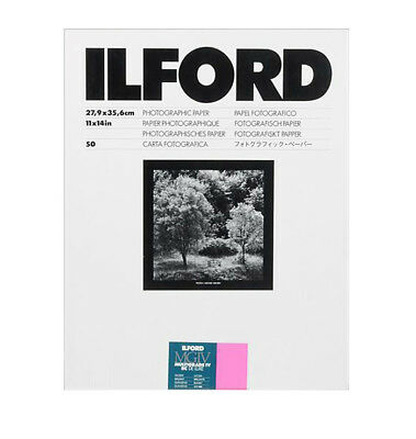 """Ilford 11 x 14"""" Multigrade IV RC Deluxe B&W Paper, Glossy Surface, 50 Sheets"""