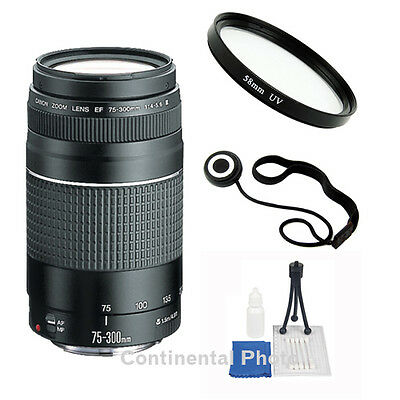 Canon EF 75-300mm f/4-5.6 III Telephoto Zoom Lens + 58mm UV Value Kit