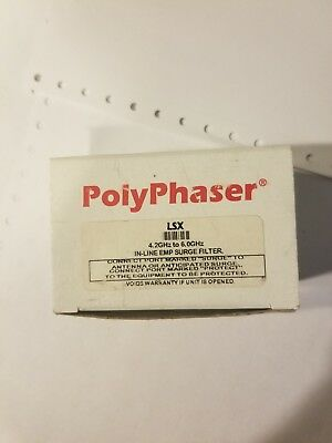Polyphaser LSX 4.2GHz-6.00GHz In-Line EMP Surge Filter *FREE Shipping
