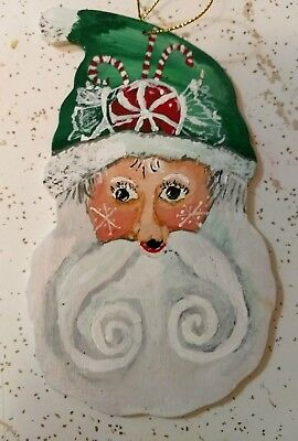 Wood christmas tree ornaments hand painted
