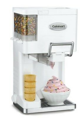 Cuisinart ICE-45 Soft Serve Ice Cream Maker Electric Ice Cream Machine, White