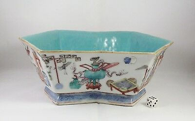 Very Fine Antique Chinese Famille Rose Porcelain Bowl Tongzhi Mark & Period