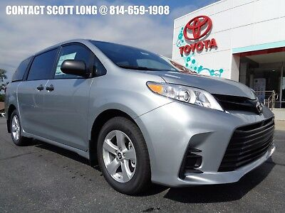 2019 Toyota Sienna New 2019 Sienna L Front Wheel Drive Silver New 2019 Sienna L 3.5L V6 Celestial Silver Metallic BlueTooth 2nd Row Captains