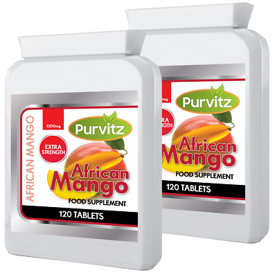 African Mango 1200mg Weight Loss 240 Tablets Made In UK Purvitz Slimming Tablets