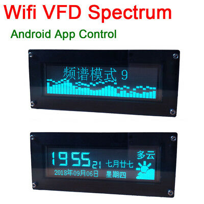 WIFI ANDROID APP VFD Music Spectrum Indicator clock Display car Audio  Amplifier