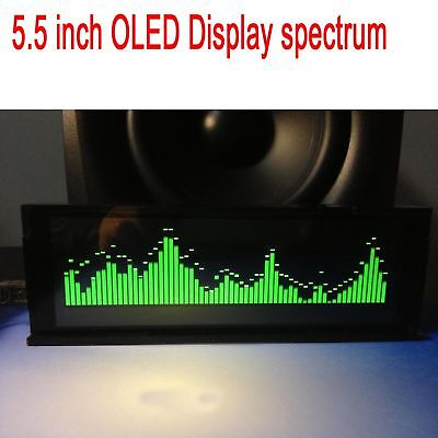"""5.5"""" OLED Screen Music Spectrum Audio Level Display Indicator for Car amplifier"""