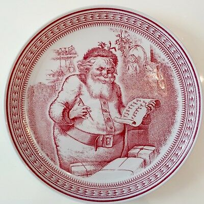 WILLIAMS SONOMA by SPODE Saint Nick Salad/Dessert Plate MADE IN ENGLAND 4 Avail.