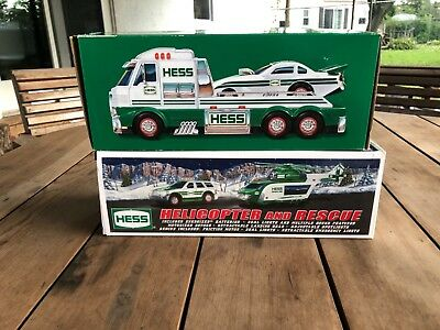 2016 Hess Toy Truck and Dragster - & 2012 Hess helicopter new in box !