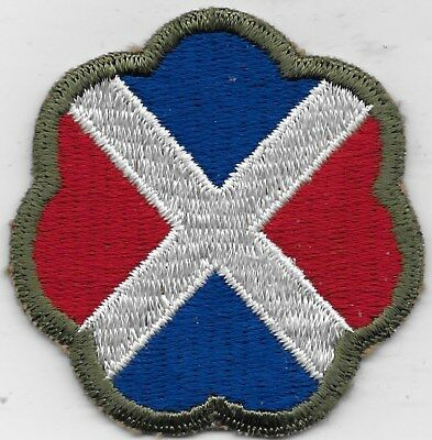 "Rare Original Wwii ""17Th Infantry Division (Old)"" Patch - F/emb Coton Thread"