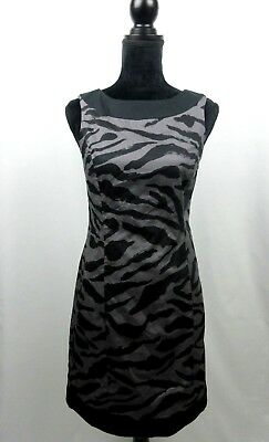 91d65f1308e Merona Women s Dress Sleeveless Black and Gray Sheath Side Zipper Lined  Size 2