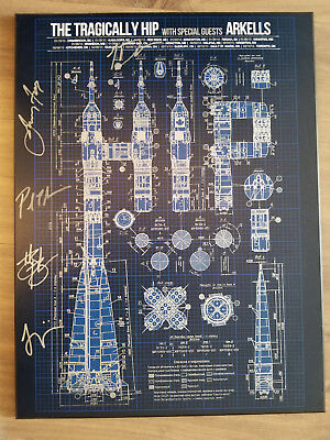 Gord Downie - Arkells - Autographed signed - Tragically Hip - Tour Poster - 2013