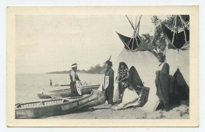 Summer Camp ~ 1939 postcard ~ Native American, Indian ~ Roland Reed
