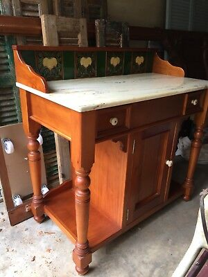 Vintage Washstand, Marble Top