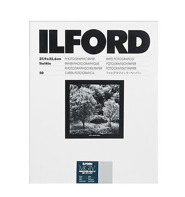 """Ilford 11 x 14"""" Multigrade IV RC Deluxe B&W Paper, Pearl Surface, 50 Sheets"""