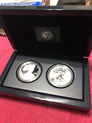 2012 American Eagle San Francisco Two-Coin Silver Proof Set Bnib Coins