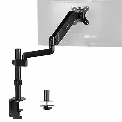 VIVO Black Single Monitor Arm Sit-Stand Desk Mount for One Screen up to 32""