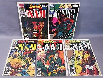 THE 'NAM #52 53 67 68 69 (Punisher Invades Full Run) Marvel Comics 1991