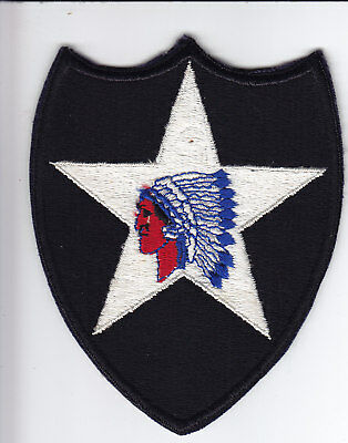 Original WWII US Army Patch - 2nd Infantry Division - FE