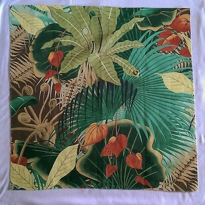 """N3M CLARENCE HOUSE BAHIA LINEN BLEND PRINT FABRIC REMNANT MULTI  26"""" x 26 1/2"""""""