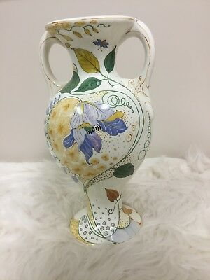 Gouda Pottery Zuid Holland Vase With Early Markings