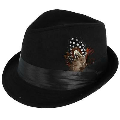 9a7204961 NEW KENNY K Men's Dressy Faux Felt Fedora with Removable Feather