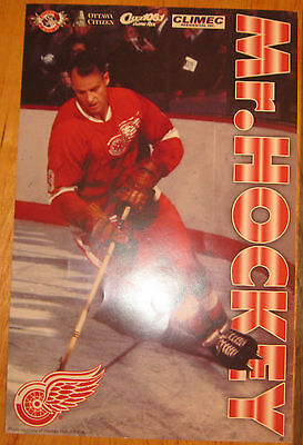 Gordie Howe - MISTER HOCKEY Poster - Great Condition