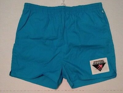 Vtg 80's HOBIE Swim Trunks Shorts Mens XL NWOT Aqua Surfers Paradise Cotton Poly