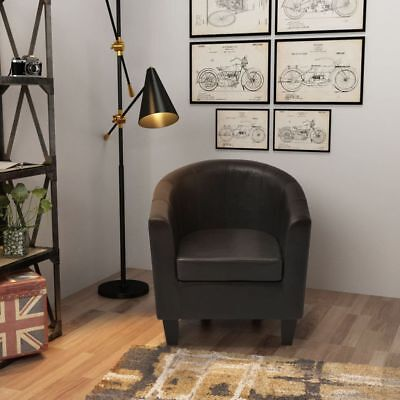 Armchair Artificial Leather Black