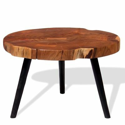 Log Coffee Table Solid Acacia Wood (55-60)x40 cm Home Furniture Living Room NEW