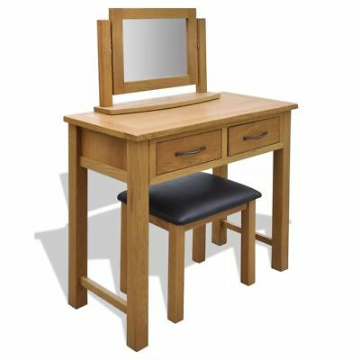 Oak Dressing Table with Stool