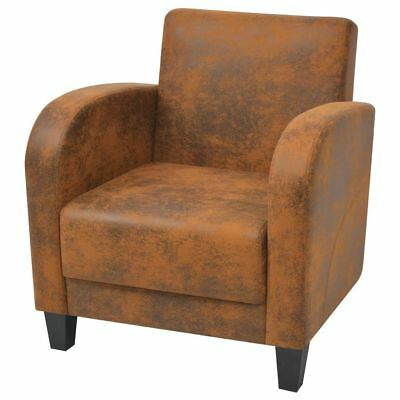 Armchair Brown 73x72x76 cm Home Living Dining Room Office Lounge Furniture NEW
