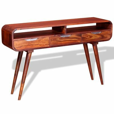 Console Table Solid Sheesham Wood 120x30x75cm Home Decor Living Room Office NEW