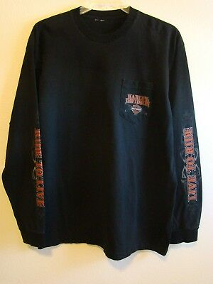 Harley Davidson Mens Long sleeve T-Shirt XL High Country Frederick CO Preowned