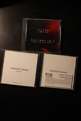 Warp Records Promo CD Lot 3 Items Flying Lotus and Grizzly Bear
