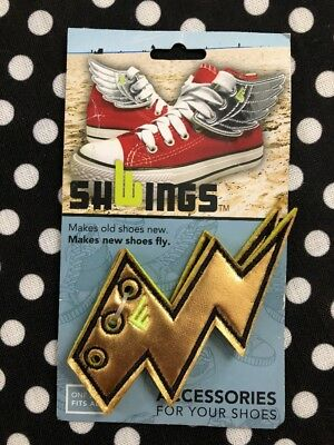 e4746fedfd Shwings Gold Lightning Wings Shoe Lace Accessories For Your Shoes Sneakers  New